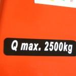 Udźwig 2500 kg