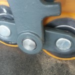 Podwójne roli poliuretanowe pod widłami